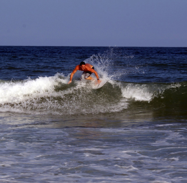 surfing beach in Myrtle Beach