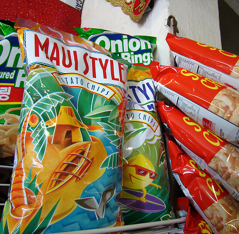 Hawaiian food; Maui Style potato chips