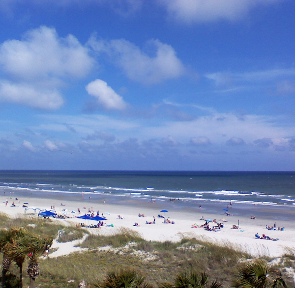 The beach in North Myrtle Beach
