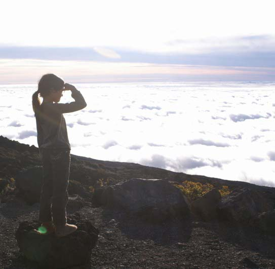 Looking at the view from the top of Maui's Haleakala