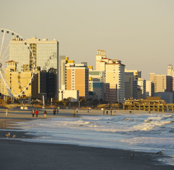 the beach in Downtown Myrtle Beach